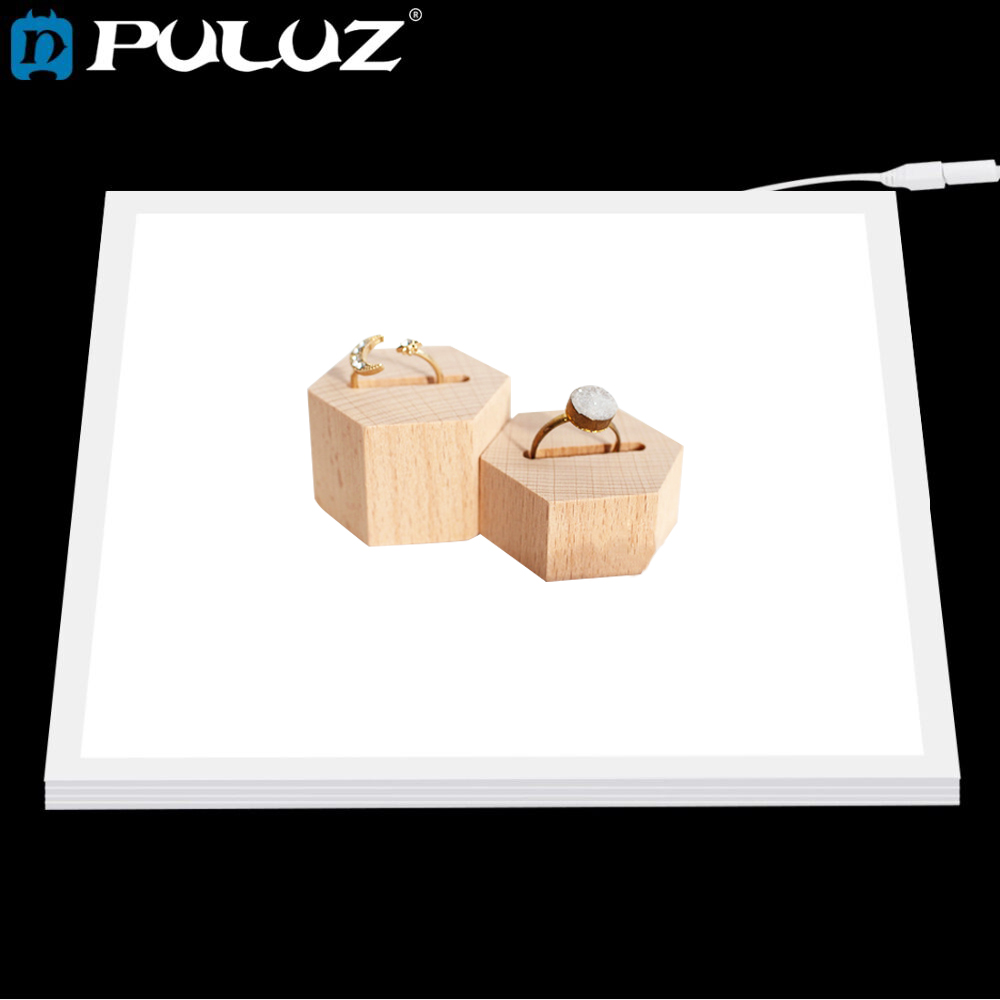 Puluz mini 22.5 led fotografia shadowless inferior luz painel da lâmpada almofada photo studio softbox luz inferior para 20cm lightboxs