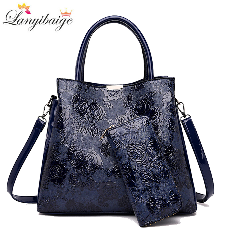 2020 New Brand Luxury Handbags Women Bags Designer Rose Print Tote Bag Fashion Crossbody Bags For Women Travel Handbag