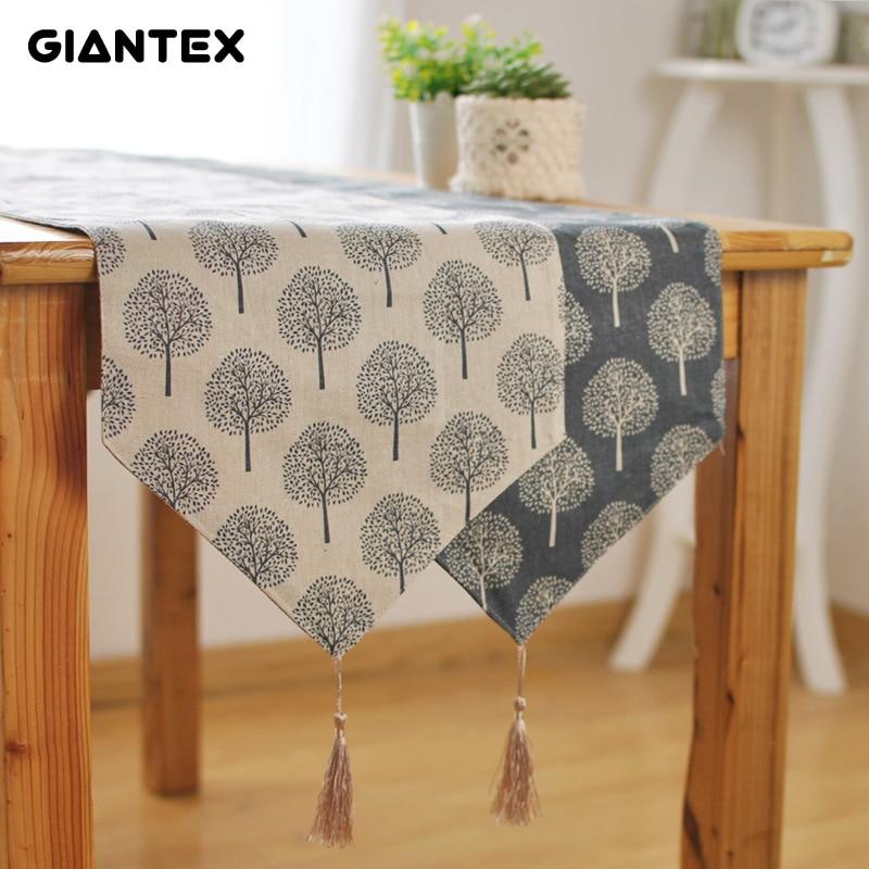 GIANTEX Table Runner Linen Modern Table Runners Decoration Track On The Table Setting Chemin De Table Camino De Mesa Tafelloper