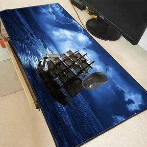 Mairuige navio no mar velocidade versão grande bloqueio borda gaming mouse pad tapete para computador portátil mesa teclado 900*400*3mm