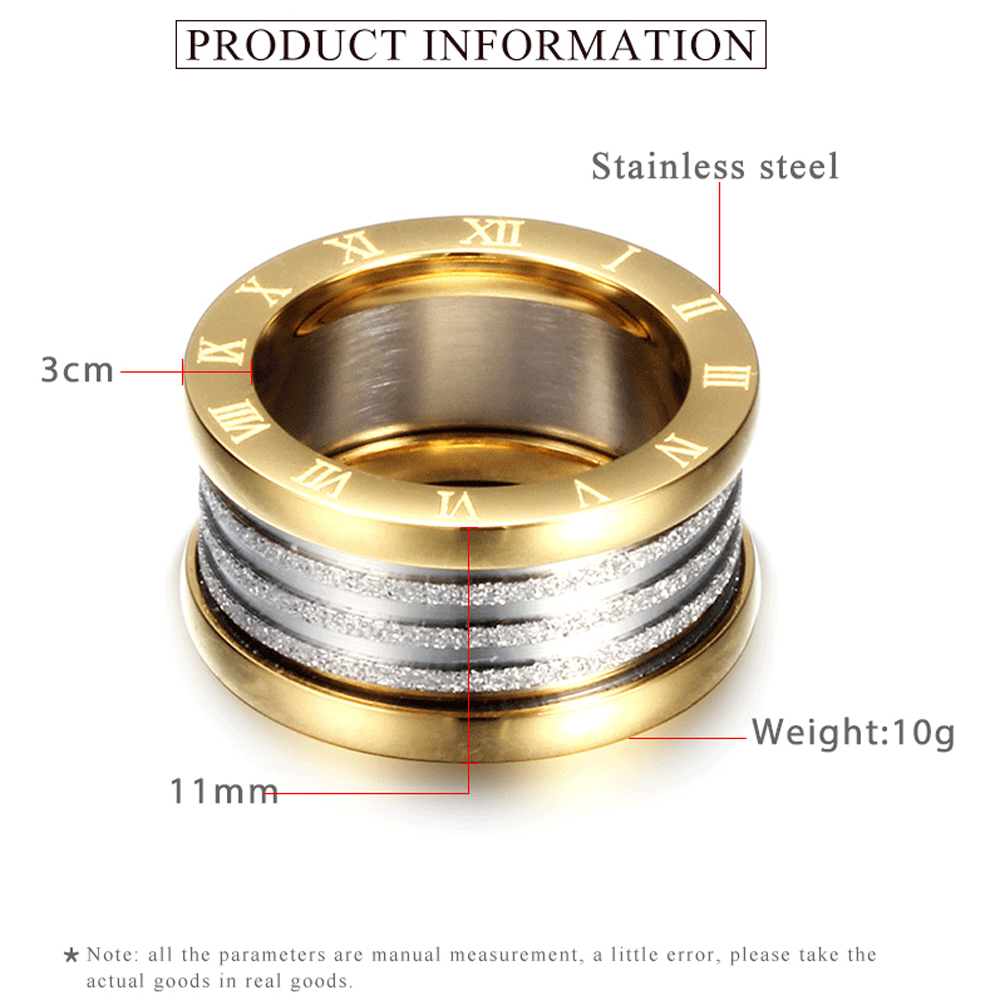 Antique Retro Stainless steel Rings For Women Men Jewelry Anillos Engagement Wedding Bague Homme Party Accessories Vintage 3
