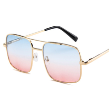 Retro Gradation Sunglasses Woman Street Shows UV Outdoor Sports