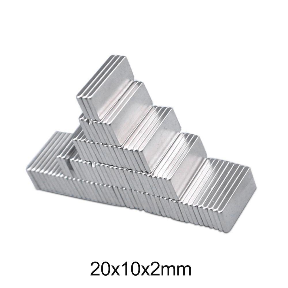 10~150pcs 20x10x2 mm Rare Earth Magnet 20mmX10mm Block Rectangular Magnets 20x10x2mm Permanent Neodymium Magnet 20*10*2 mm