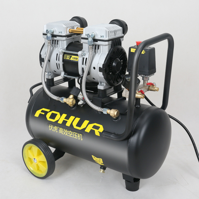 Air Pump Air Compressor Small Air Compressor Inflatable Oil-free Mute 220V Woodworking Painting Chong Qi Beng