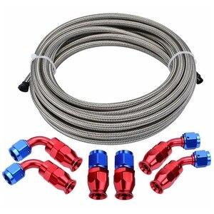 Плетеный Топливный шланг линия комплект подачи/возврата масла топливный шланг с соединительным соединителем шланга