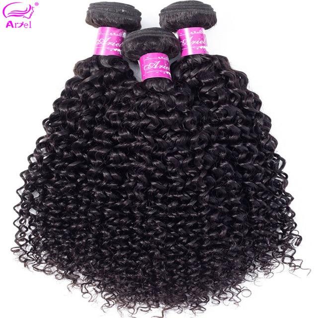 Kinky Curly Bundles Brazilian Hair Weave Bundles 28 32 30 Inch Bundles Non Remy 100% Human Hair Bundles Hair Extension Ariel 3