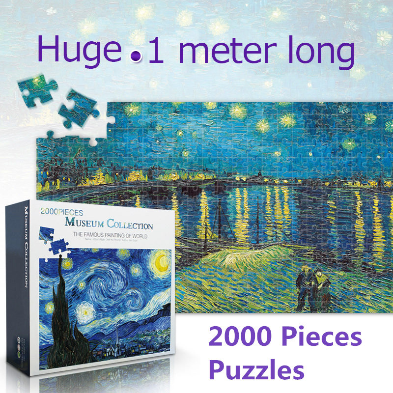 Puzzle 2000 Pieces Famous Painting Of World Adult Puzzles For Adults Children 2000 Pieces DIY Jigsaw Puzzle Creativity Education