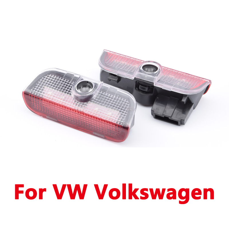 2x For Volkswagen VW Golf 5 6 7 Jetta MK5 MK6 MK7 Tiguan Passat B6 B7 Rline Car Door Logo Lights Projector Laser Ghost Shadow