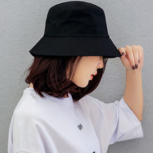 Hat Unisex Boonie-Hat Bob-Caps Panama-Cap Gorros Hip-Hop Solid-Bucket Sun-Fishing Black