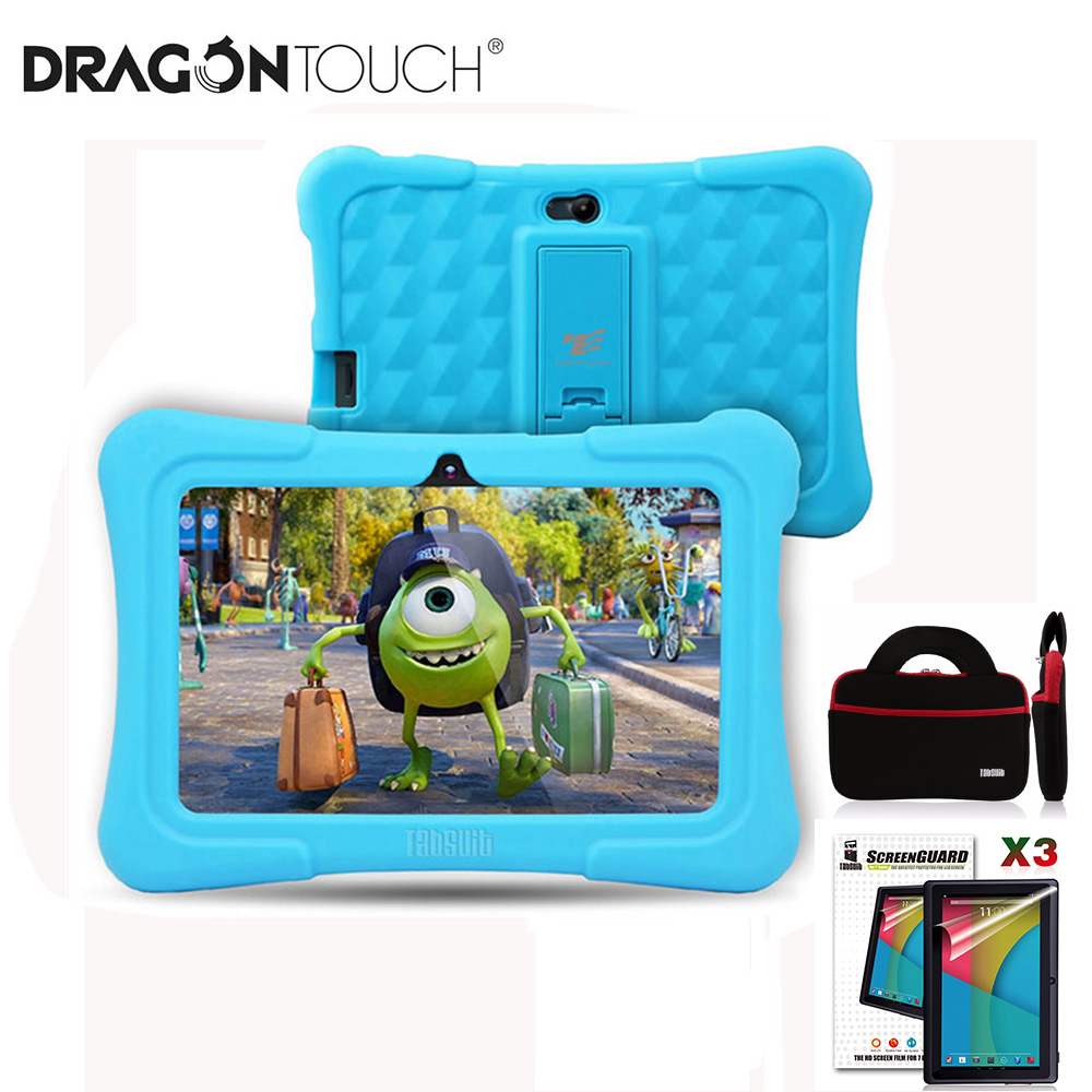 Upgraded Dragon Touch Y88X Plus Kids Tablet 7 Inch 16GB Quad Core Android 8.1 With Tablet Bag Screen Protector Android Tablet PC