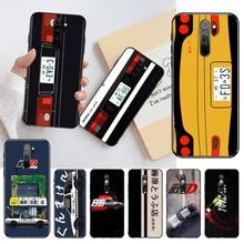 NBDRUICAI INITIAL D AE86 Black Soft Shell Phone Case Capa for Redmi Note 8 8A 7 6 6A 5 5A 4 4X 4A Go Pro Plus Prime dynacord d 8a