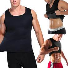 Men Sweat Vest Body Shaper Shirt Thermo Slimming Sauna Suit Weight Loss Black Shapewear Neoprene Waist Trainer Corset(China)