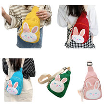 Kids Fashion Simple Chest Bag Small Cartoon Rabbit Pattern with Sequins Decorated Multipurpose Single-Shoulder Bag for Girls(China)