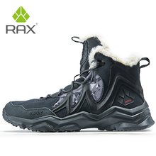 RAX Winter Snow Boots For Men Women Fleece Hiking Shoes Outdoor Sports Sneakers Mens Mountain Shoes Trekking Walking Boots