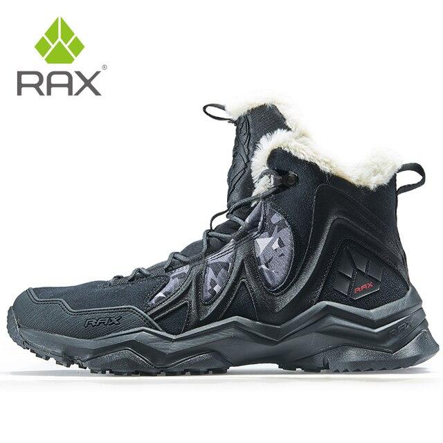 Зимние ботинки RAX для мужчин и женщин, флисовая походная обувь, уличные спортивные кроссовки, мужская горная обувь, треккинговые прогулочные ботинки