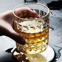 Рельефная Хрустальная стеклянная чашка для виски для домашнего бара пивная вода и вечерние свадебные стекла для отеля es подарок посуда для напитков