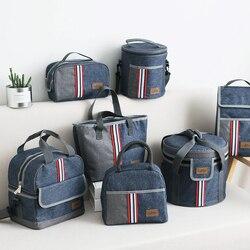 Оксфордская Термосумка для ланча, изолированная сумка-холодильник для хранения, женская детская сумка для еды, переносная сумка для отдыха,...