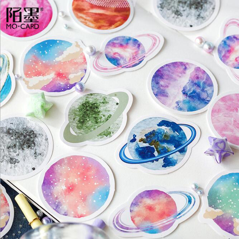 45 Pieces / Pack 32 Planet Space Earth Colorful Decorative Dress Summer Diary Sticker Label Scrapbook Album Stationery
