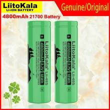 1 4 pces liitokala Lii 48S 3.7v 21700 4800mah li lon bateria recarregável 9.6a potência 2c taxa de descarga baterias de lítio ternário