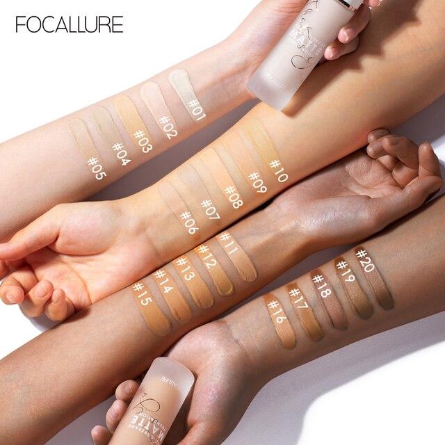 FOCALLURE Convermax Full Coverage Foundation Oil Control Face Makeup 20 Colors Matte Liquid Base Foundation 3