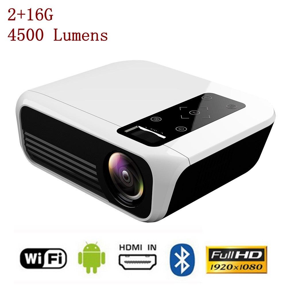 TOPRECIS T8 Full HD LED Mini Projector 4K LCD 2+16G 4500 Lumens 1080P Android Amlogic Home Cinema Theatre Media Video Player