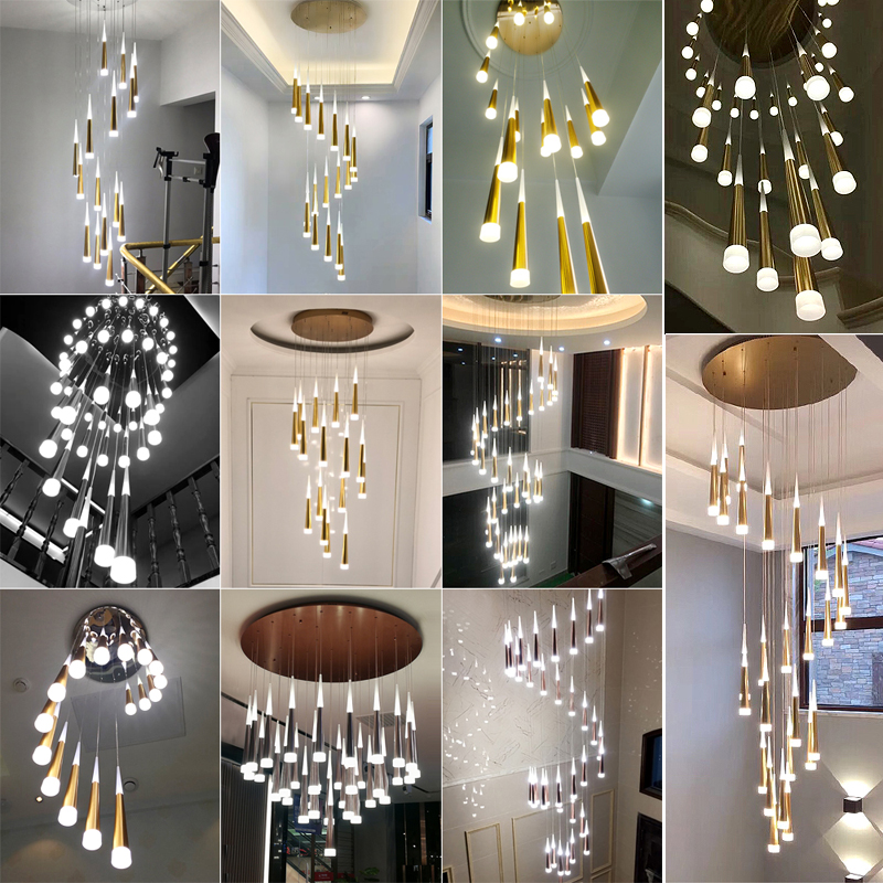 Image 4 - Modern creative LED Pendant Lights for living room restaurant bar living bed room metal luminaria dimming Pendant Lamp-in Ceiling Lights from Lights & Lighting