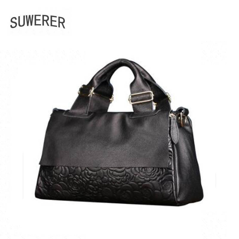 Women Genuine Leather bag  2020 New Fashion Embossed Tote European and American trend shoulder bag Boston bag
