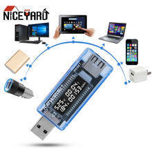 Niceyard usb voltímetro tester tensão doutor carregador de capacidade testador digital tensão atual amperímetro