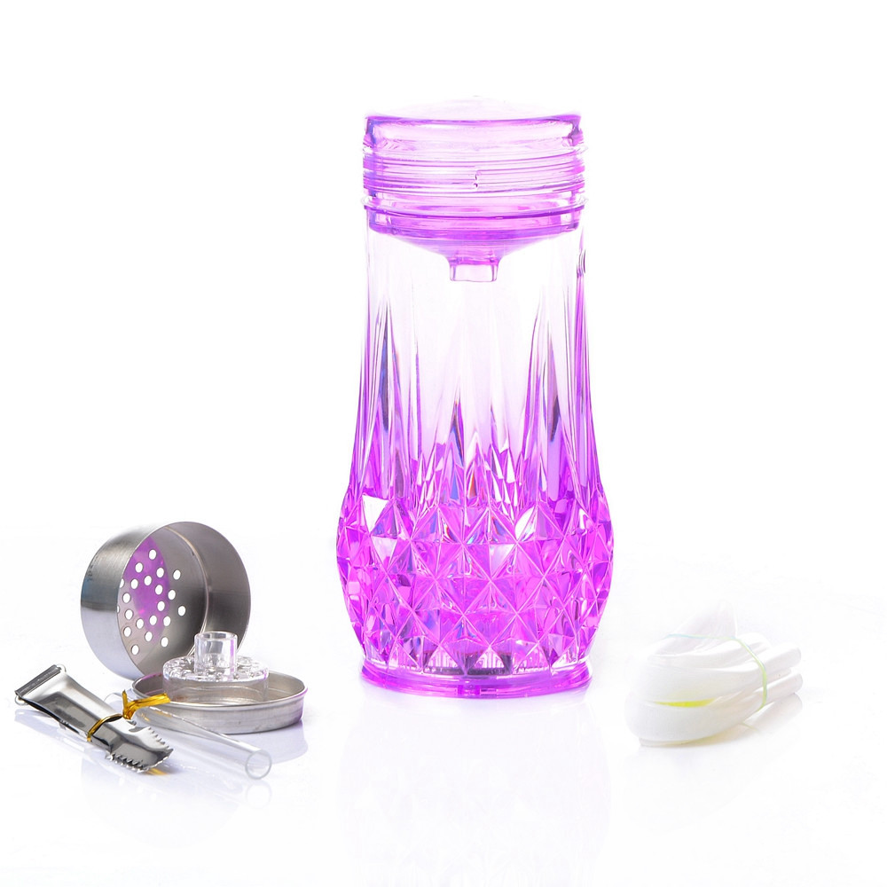 Acrylic Hookah Cup Shisha Pipe Set Nargile Chicha Narguile with Hose Bowl Charcoal Holder Sisha Accessories