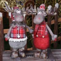 Grande retráctil navidad Reno muñeca navidad figuras de navidad regalo de navidad para chico rojo navidad árbol decoraciones Año nuevo regalo