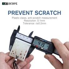Antscope 0-150 мм электронный цифровой штангенциркуль 6 дюймов Пластиковый штангенциркуль из углеродного волокна цифровой штангенциркуль микрометр измерительный инструмент