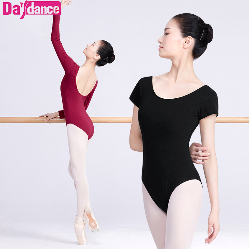 Professional Long Sleeve Low Back Ballet Dance Leotard Adult Girls Women Ladies Cotton Gymnastics/Ballet Bodysuit Slim