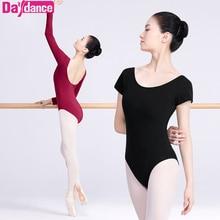 Professional Long Sleeve Low Back Ballet Dance Leotard Adult Girls Women Ladies Cotton Gymnastics/Ballet Bodysuit Slim