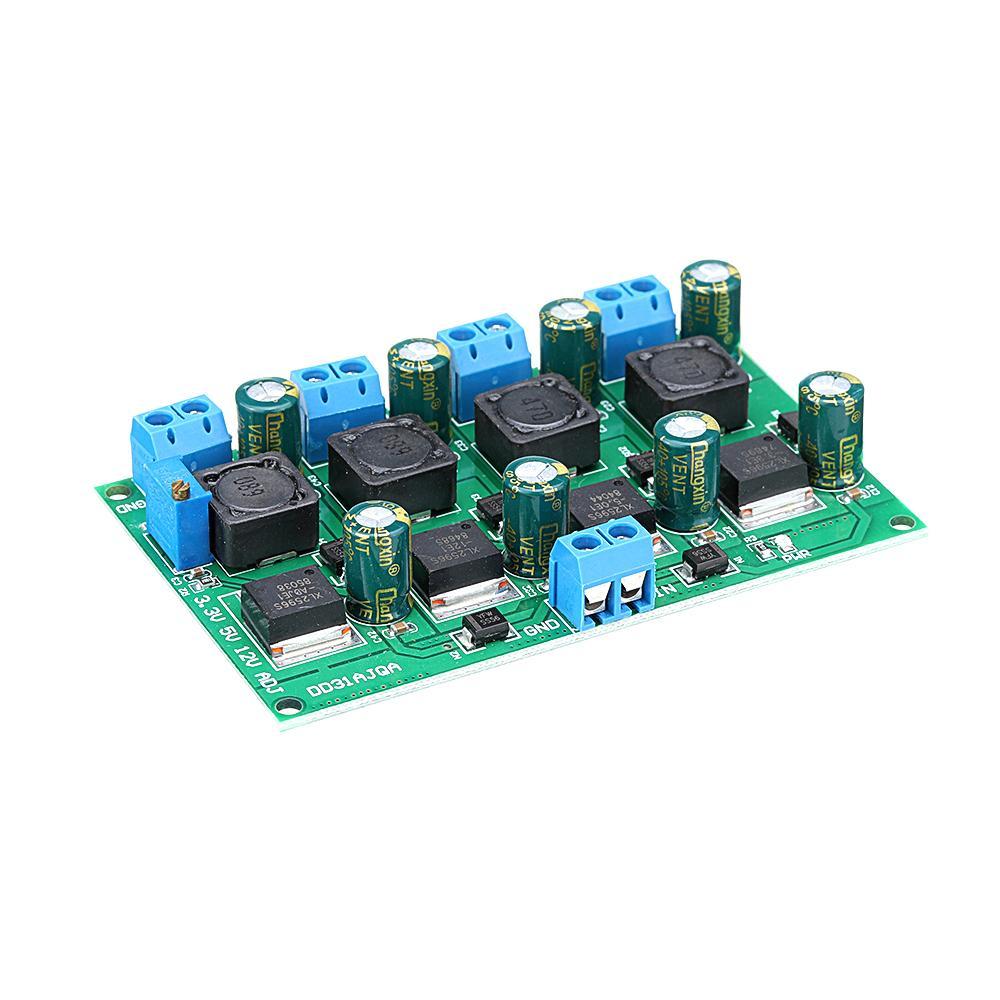 4 CH 3A 3.3V 5V 12V Adjustable 2-28V Output Step Down Power Supply Module  4-channel Buck Power Module DD31AJQA