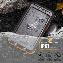 Solar Power Bank Waterproof IP67 Technology LED Batterie Externe Carregador Portatil Powerbank for Xiaomi Iphone XR Mi Poverbank(China)