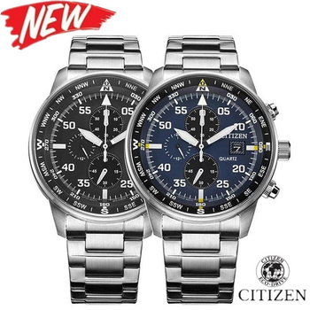 Citizen- Luxury Brand Mens AAA Watch Fashion Mechanical watch Chronograph Sports Watches with Leather Strap
