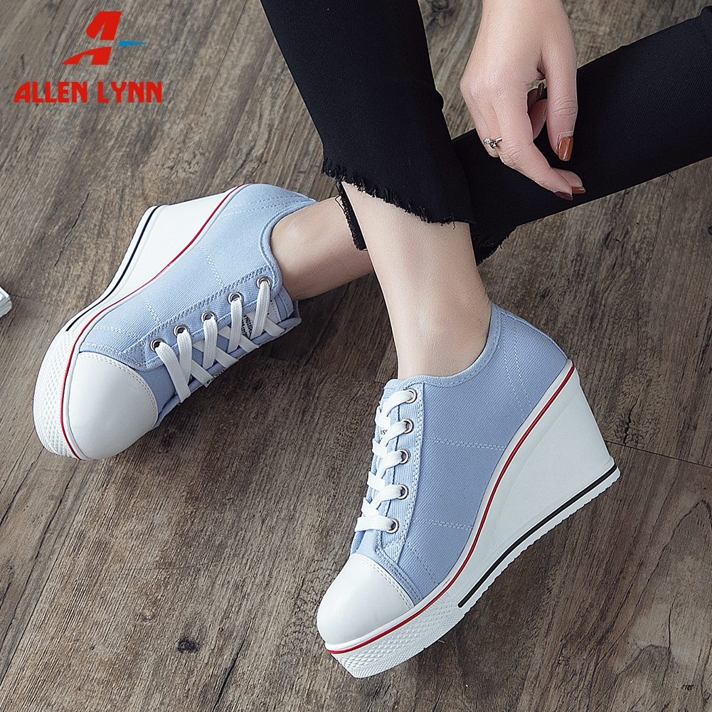 Women High Heels Wedges Sports Boots Spring Autumn Casual Fashion Shoes New