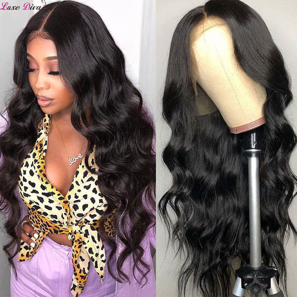 Luxediva Lace Front Human Hair Wigs Body Wave 360 Lace Wig Brazilian Lace Front Wig Pre-Plucked Babyhair 13x4 Lace Wig For Women