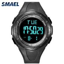 Smael relógio digital 2020 moda esporte ao ar livre relógios masculino à prova d50 água 50 m alarme display relógio de pulso pulseira resina cronômetro 1016