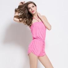 цена на Beach Dress 3XL Rayon Cover-Up Waist-tie Women Beach Tunic for Both Slim and Plus Size Female  beach cover up  womens tunic