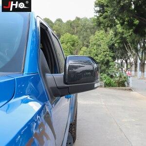 Image 5 - JHO Whole set Pickup Accessories ABS Carbon Fiber Grain Interior Decor Bezel Cover Trim Kit For Ford F150 Raptor 2017 2018 2019