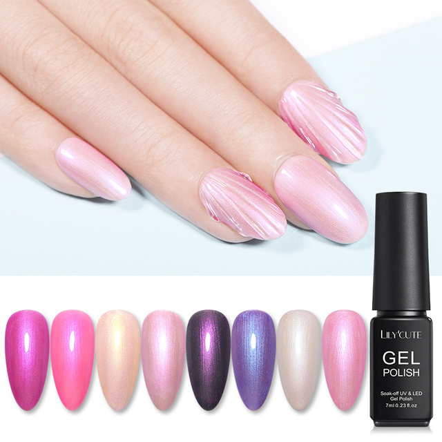 LILYCUTE Pearl Shell Gel Nail