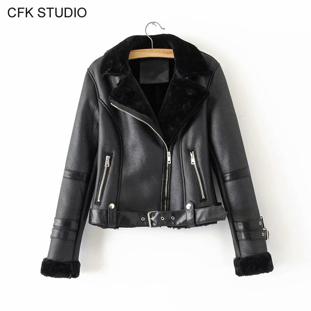 ZA femmes fausse fourrure veste hiver manteau 2019 nouvelle mode solide à manches longues épais chaud noir moelleux vestes grande taille veste en cuir synthétique polyuréthane