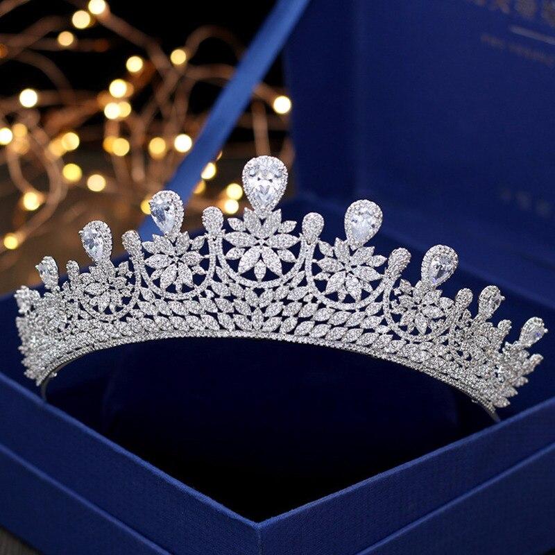Хрустальные стразы, свадебная корона тиара, диадема, Королевская корона, головной убор, аксессуары для волос, женский свадебный головной уб... - 2