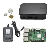 4 in 1 for Raspberry Pi 3 Model B+(Plus) with Abs Case ,Heatsinks+ 5V 3A Power Adapter for Raspberry Pi 3B