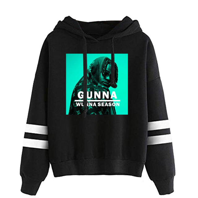 GUNNA THEMED STRIPED HOODIE (28 VARIAN)