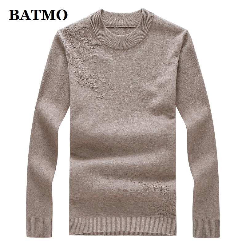 BATMO 2019 New Arrival Autumn High Quality Sweater Men,men's Thicekd Pullovers ,plus-size M-8XL 9994