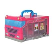 20PCS Children Play House Storage House Travel Bus Portable Storage Box Girl Toy
