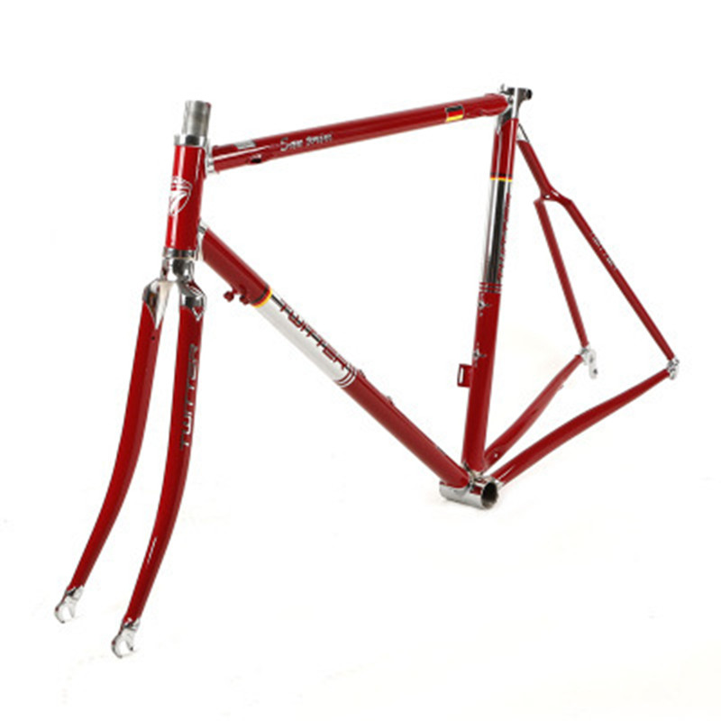 The new zit SAN retro road <font><b>frame</b></font> high-end chrome molybdenum <font><b>steel</b></font> 700C wheel track driving <font><b>frame</b></font> can be customized image
