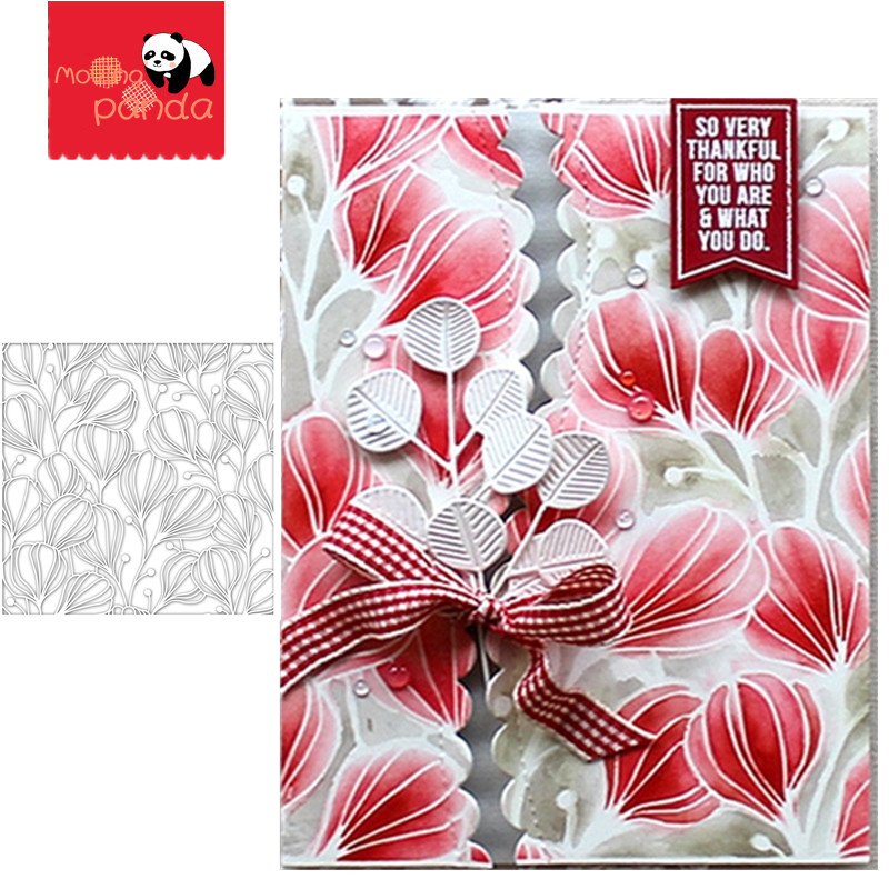 FLORA Stamp Stencil Metal Cutting Dies And Stamps For Painting Stencil Template Scrapbooking DIY Crafts Paper